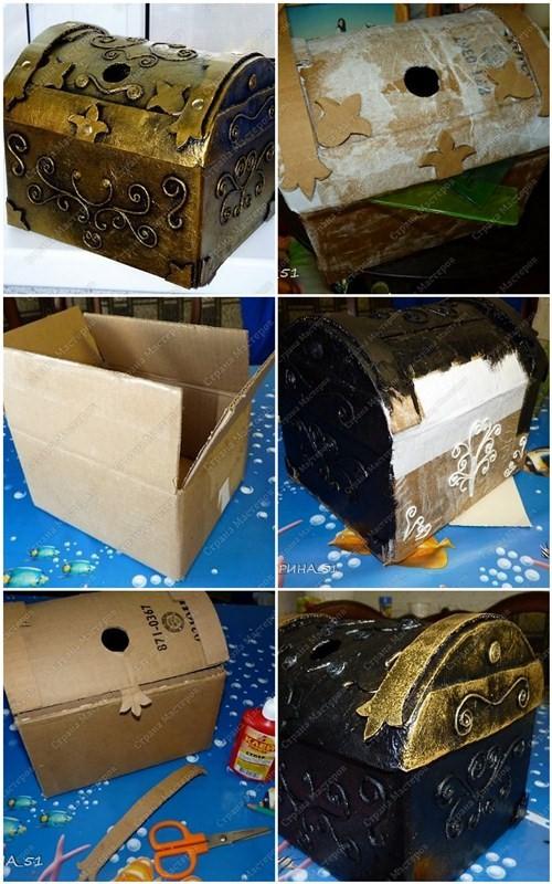 Как из коробки обувной сделать шкатулку