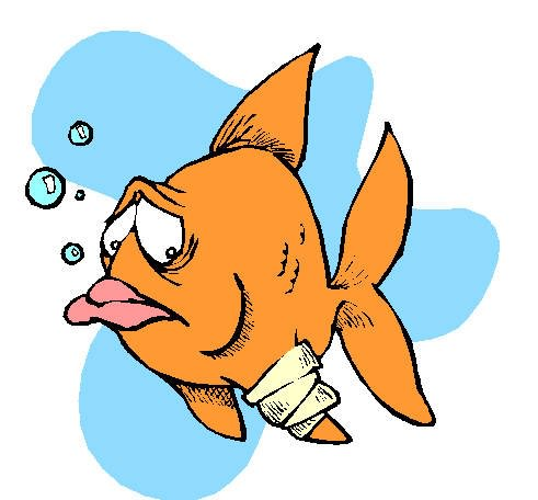 рыбка заболела