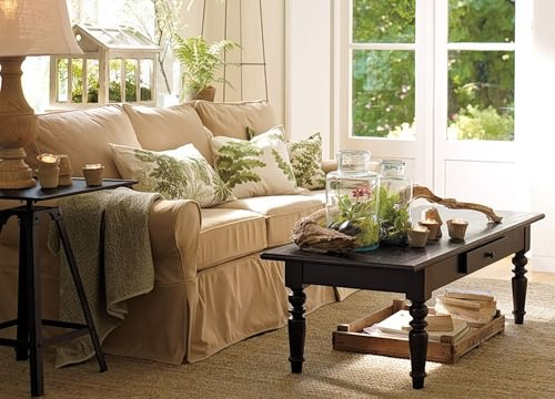 Флорариумы в дизайне гостинной