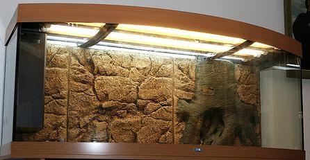 Дизайн аквариума своими руками 250 литров есть каменный фон
