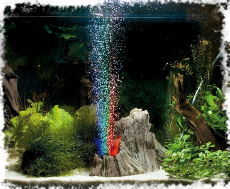 вулкан световое оформление аквариума