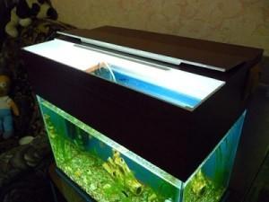 аквариум с самодельной крышкой из пвх