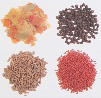 Фирменные корма - хлопья,гранулы,пеллетс