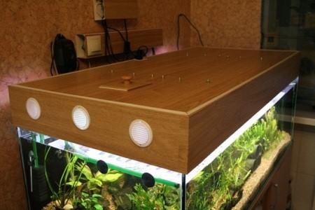 аквариум с самодельной крышкой