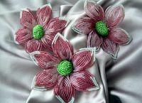 Цветы из бисера своими руками 21