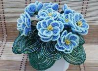 Цветы из бисера своими руками 19