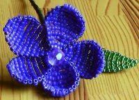 Цветы из бисера своими руками 18