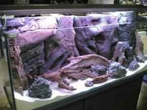 фон для аквариума сделанный из пенопласта