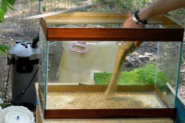 подготовка грунта для аквариума 1