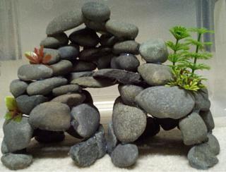 как сделать грот для аквариума