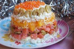 салат под шубой с красной рыбой