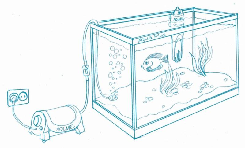 компрессор в аквариуме