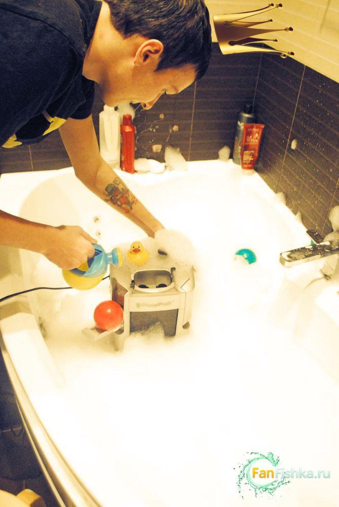 мытье аквариумного фильтра
