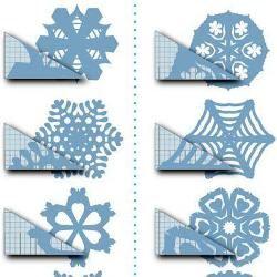Вырезание снежинок из бумаги (шаблоны)