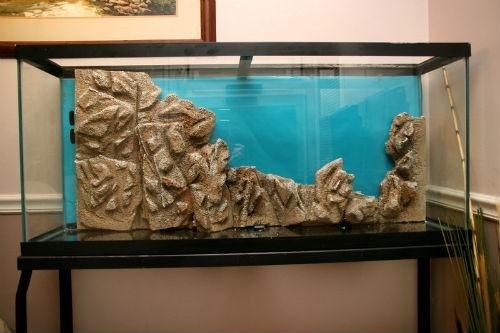 каменный задний фон для аквариума