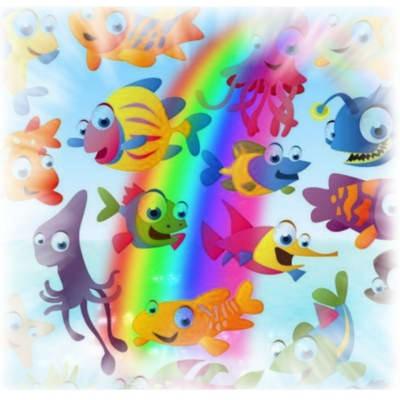 рыбки всех цветов
