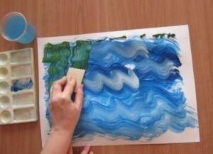 как нарисовать аквариум с рыбками 2