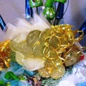 Золотая рыбка из конфет11