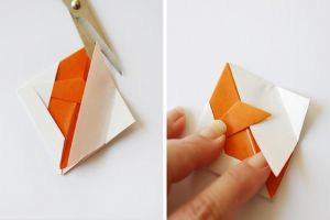 как сделать рыбку из бумаги 7