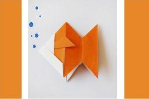 как сделать рыбку из бумаги 8